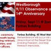 Westborough's 9/11 Observance to be held Friday at 3pm