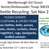 Nov 21st – Recycle Textiles & Support the Girl Scouts