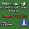 Advisory Finance Committee Meeting – January 14, 2016
