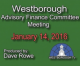 Advisory Finance Committee Meeting – January 14, 2016