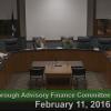 Westborough Advisory Finance Committee – February 11, 2016