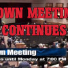 Town Meeting Continues Mon Mar 14 @ 7pm