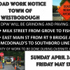 DPW – Road Work Notice