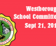 Westborough School Committee meeting – September 21, 2016