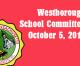 Westborough School Committee meeting – October 5, 2016