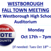 Fall Town Meeting Monday Night (10/17)