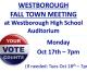 Fall Town Meeting Monday Night (10/17)