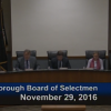 Westborough Board of Selectmen meeting – November 29, 2016