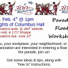 300th Parade – Float Workshop Sat Feb 4th!