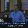 Westborough Board of Selectmen meeting – April 25, 2017
