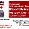 Blood Drive – Tues Dec 12 KofC Hall 1-7pm
