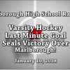 WHS Hockey Last Minute Victory!