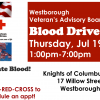 Desperate Need! Give Blood Thurs 7/19 at KofC Hall