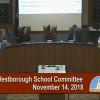 Westborough School Committee Meeting – November 13, 2018