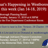 Government Meetings This Week in Westborough: January 14 – 18, 2019