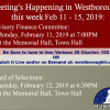 Government Meetings This Week in Westborough: February 11 – 15, 2019