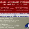 Government Meetings This Week in Westborough: February 18 – 22, 2019