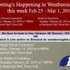Government Meetings This Week in Westborough: February 25 – March 1, 2019