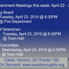 Government Meetings This Week in Westborough: April 22 – 26, 2019