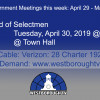 Government Meetings This Week in Westborough: April 29 – May 3, 2019
