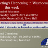 Government Meetings This Week in Westborough: April 8 – 12, 2019