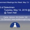 Government Meetings This Week in Westborough: May 13 – 17, 2019