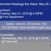 Government Meetings This Week in Westborough: May 20 – 24, 2019