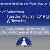 Government Meetings This Week in Westborough: May 27 – 31, 2019