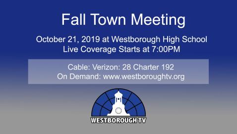 Fall Town Meeting 2019