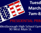 Voting at WHS Tues 7am-8pm