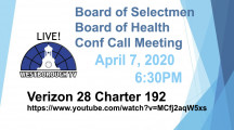 Update on COVID-19 in our Community – BOS/BOH Mtg 4/7/2020