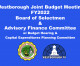 All Day Joint Budget Meeting FY2022 BOS and AFC – LIVE 1/28 @ 8:30AM