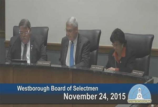 Westborough Board Of Selectmen meeting – November 24, 2015
