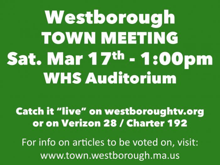 Annual Town Meeting Sat Mar 17!