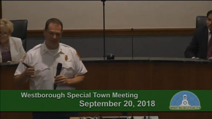 Special Town Meeting: Fire Dept SAFER Grant Funding for Personnel