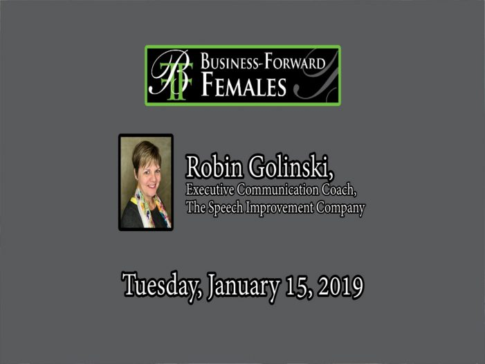 BFF Lunch: How to Create & Share Your Value Proposition with Robin Golinski 1-15-19