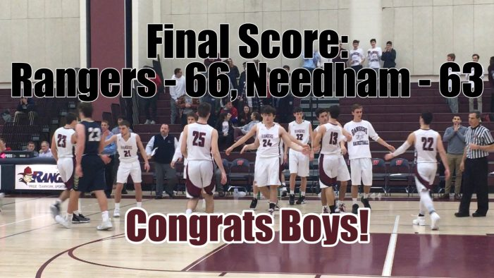 Boys Varsity Basketball: OT Win vs Needham 1-17-19