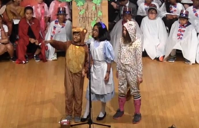 """5th grade Red Foxes presents """"Alice's Adventures with Idioms"""""""
