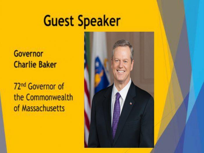 Governor Charlie Baker Speaks to Corridor 9/495 Chamber