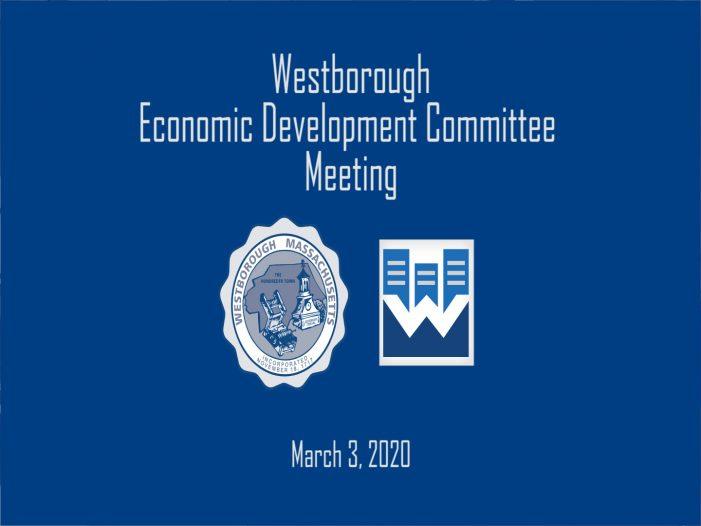 Westborough EDC Meeting March 3, 2020