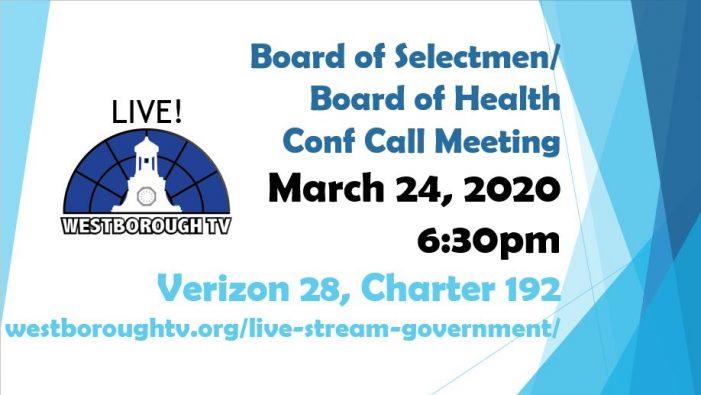Board of Selectmen's Meeting 3/24/2020