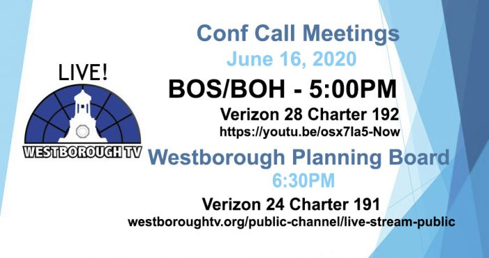 BOS/Board of Health and Planning Board Meetings Tonight!