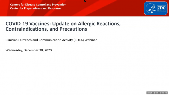 COVID-19 Vaccines: Update on Allergic Reactions, Contraindications, and Precautions