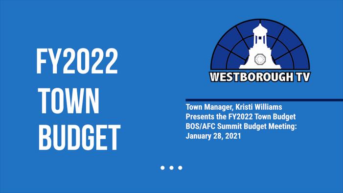 Public FY2022 Town Budget Presentation
