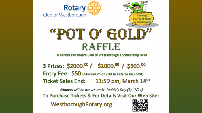 Pot O' Gold Rotary Club Raffle – 3/17!