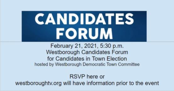 Candidates Forum for Westborough's Town Election