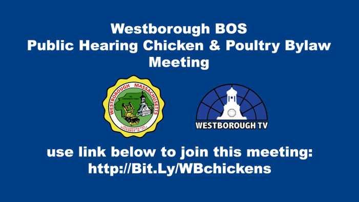 Westborough BOS Public Hearing: Animal Control Poultry By-Law LIVE @ 6:30pm 3-4-21
