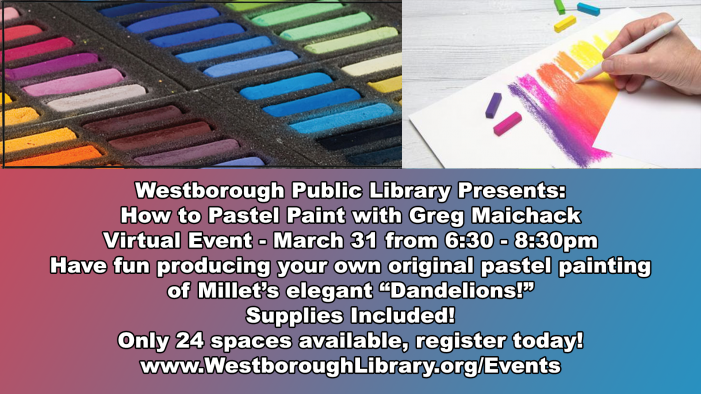 Library Presents: How to Pastel Paint w/ Greg Maichack