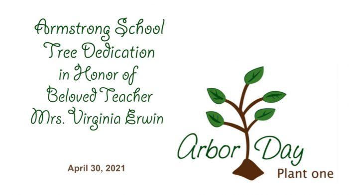 Armstrong School Arbor Day Tree Dedication