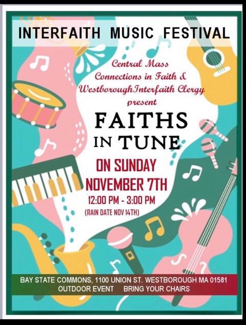 Interfaith Music Festival 11/7/21 @ 12pm!